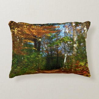 Stillwater River Trail Autumn Scenery 2015 Decorative Pillow