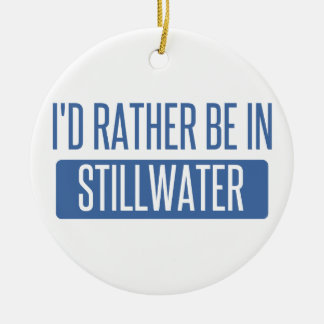 Stillwater Round Ceramic Ornament