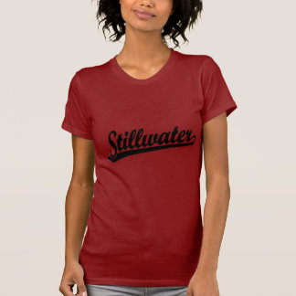 Stillwater script logo in black T-Shirt