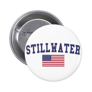 Stillwater US Flag 2 Inch Round Button