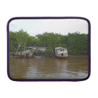Stilt houses on Amazon river Sleeve For MacBook Air
