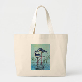 Stilts Bathing - Painting Large Tote Bag