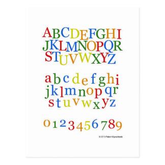 Stimulant coloré de l alphabet des enfants + Minus Cartes Postales