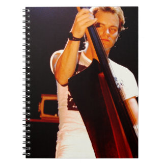 Sting Playing The Cello Spiral Notebook