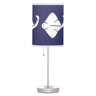 STING RAY White on blue Table Lamp