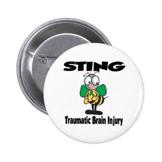 STING Traumatic Brain Injury 2 Inch Round Button