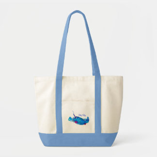 Stingray Canvas Tote Bag in Blues