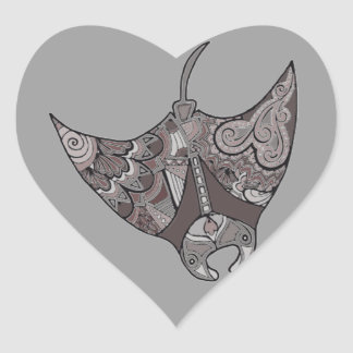 Stingray Heart Sticker