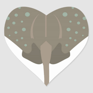 Stingray Heart Sticker