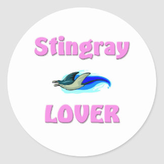 Stingray Lover Round Sticker