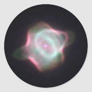 Stingray Nebula Round Sticker
