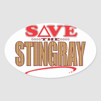 Stingray Save Oval Sticker