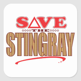 Stingray Save Square Sticker