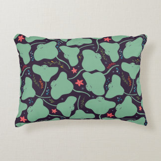 Stingrays Pattern Accent Pillow