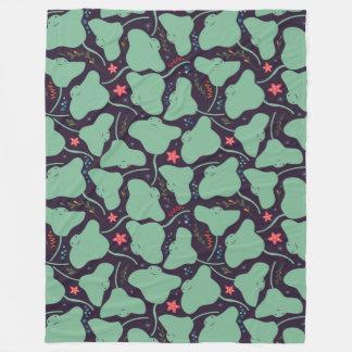 Stingrays Pattern Fleece Blanket