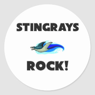Stingrays Rock Round Sticker