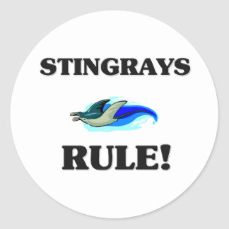 STINGRAYS Rule! Round Sticker