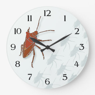 Stink Bug Large Clock
