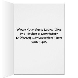Stinkeye old lady expressive neck card