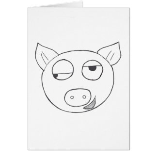 Stinkeye pig birthday card