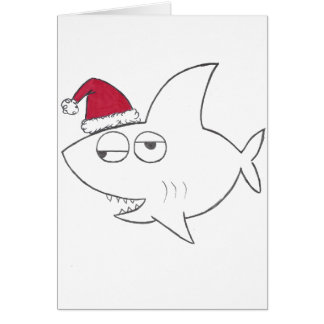 Stinkeye shark christmas card