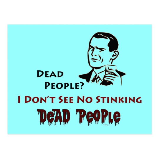 Stinking Dead People Retro Humour Postcard