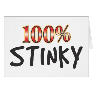 Stinky 100 Percent Card
