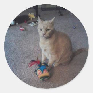 Stinky and his WACKY Pineapple Round Sticker