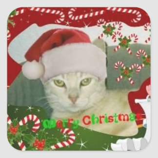 Stinky Christmas 1 Square Sticker