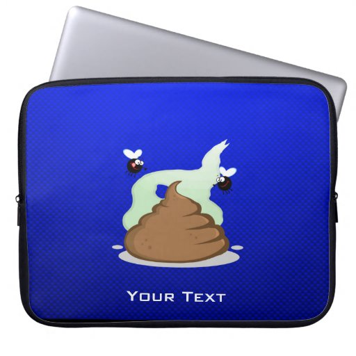Stinky Poo; Blue Laptop Computer Sleeve