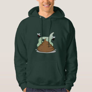 Stinky Poo; Green Hooded Pullover