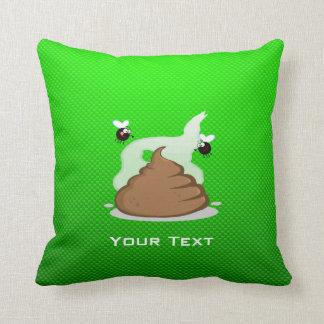 Stinky Poo; Green Throw Pillow