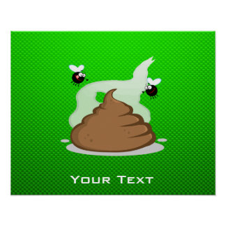 Stinky Poo Green Posters
