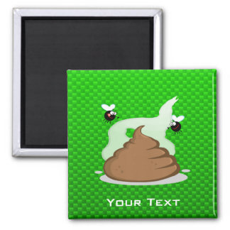 Stinky Poo; Green Square Magnet