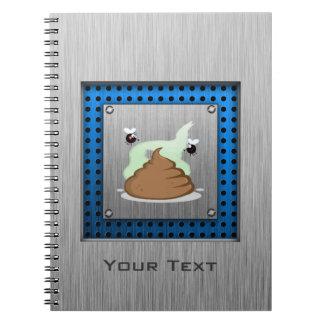 Stinky Poo; Metal-look Spiral Note Book