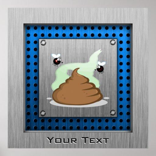 Stinky Poo; Metal-look Posters