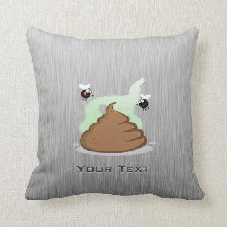 Stinky Poo; Metal-look Throw Pillows