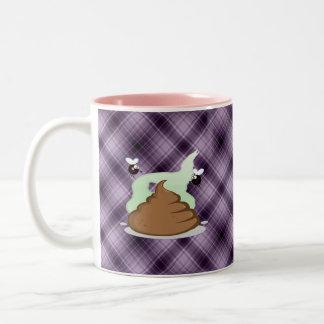 Stinky Poo; Purple Two-Tone Coffee Mug
