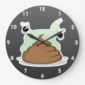 Stinky Poo; Sleek Wall Clock