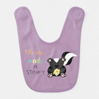 Stinky Skunk Lavender Baby Bib
