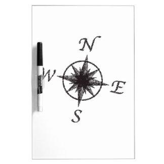 Stipple Compass Face Dry Erase Board