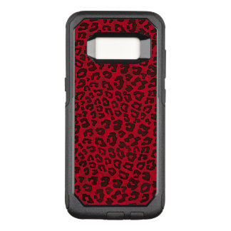 Stippled Cranberry Red Leopard OtterBox Commuter Samsung Galaxy S8 Case