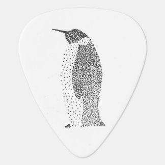 Stippled Penguin Guitar Pick