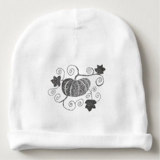 Stippled Pumpkin Baby Beanie