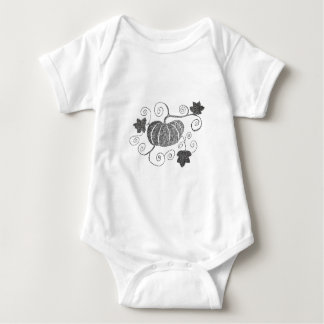 Stippled Pumpkin Baby Bodysuit