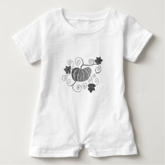Stippled Pumpkin Baby Romper
