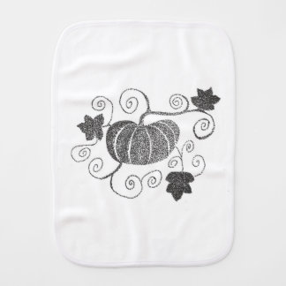 Stippled Pumpkin Burp Cloth