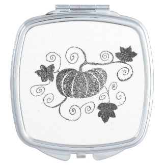 Stippled Pumpkin Compact Mirrors