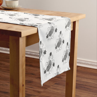 Stippled Pumpkin Motif Short Table Runner