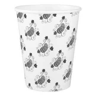 Stippled Pumpkin Paper Cup